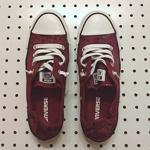 Converse All Stars, Maroon, Size 7
